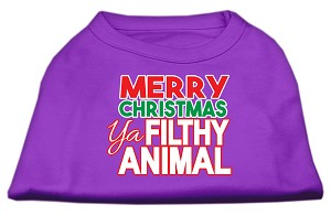 Ya Filthy Animal Screen Print Pet Shirt Purple XL (16)